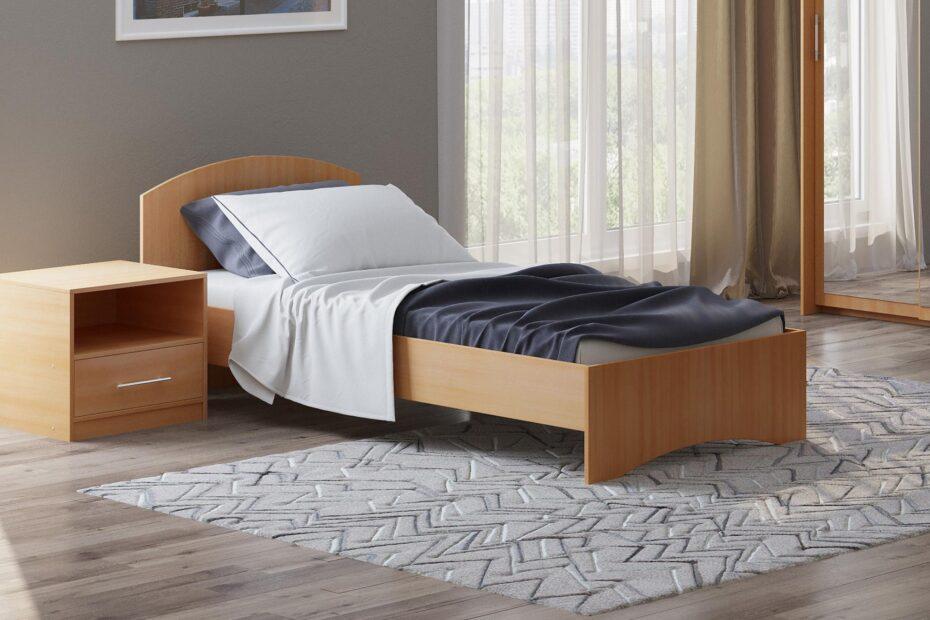 Кровать без ящика 800, 900 вишня оксворд