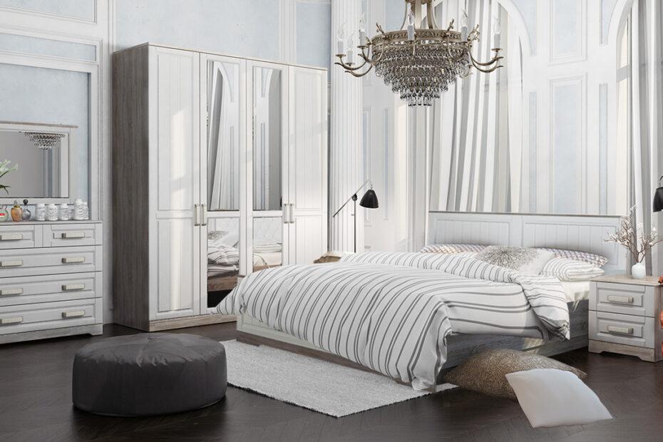 Спальня Прованс комплектация 1 в интерьере