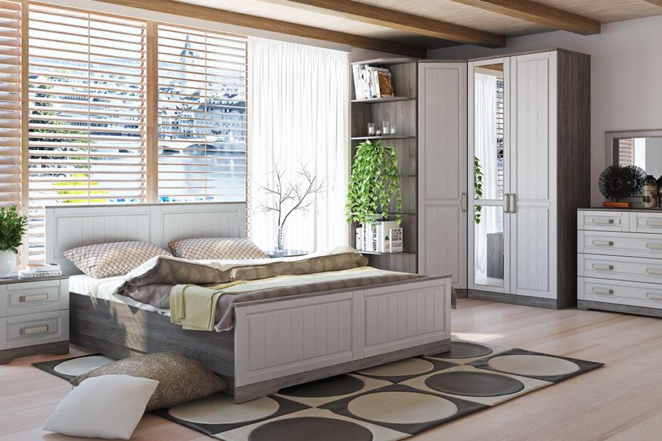Спальня Прованс комплектация 2 в интерьере